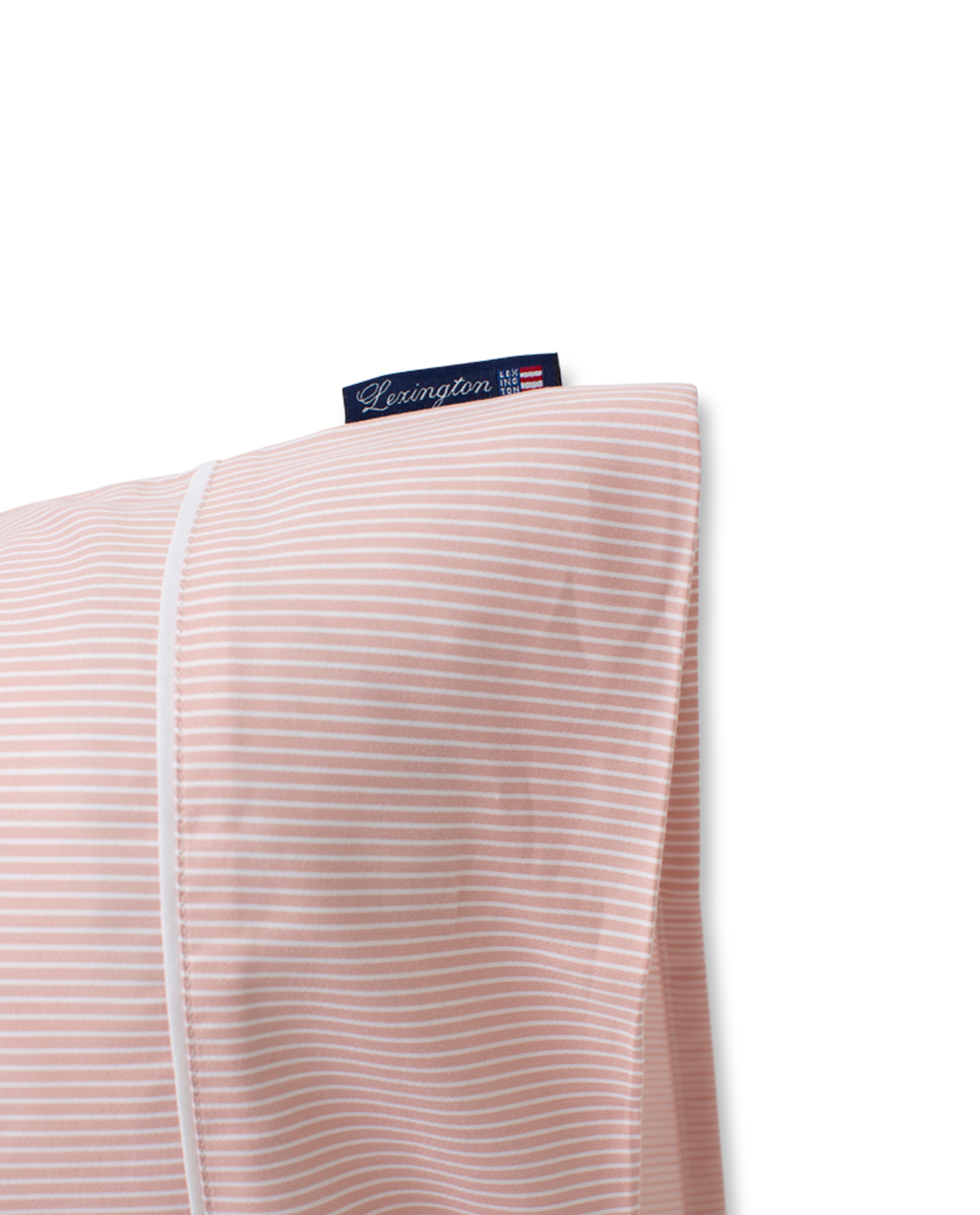Pink/White Striped Lyocell/Cotton Pillowcase