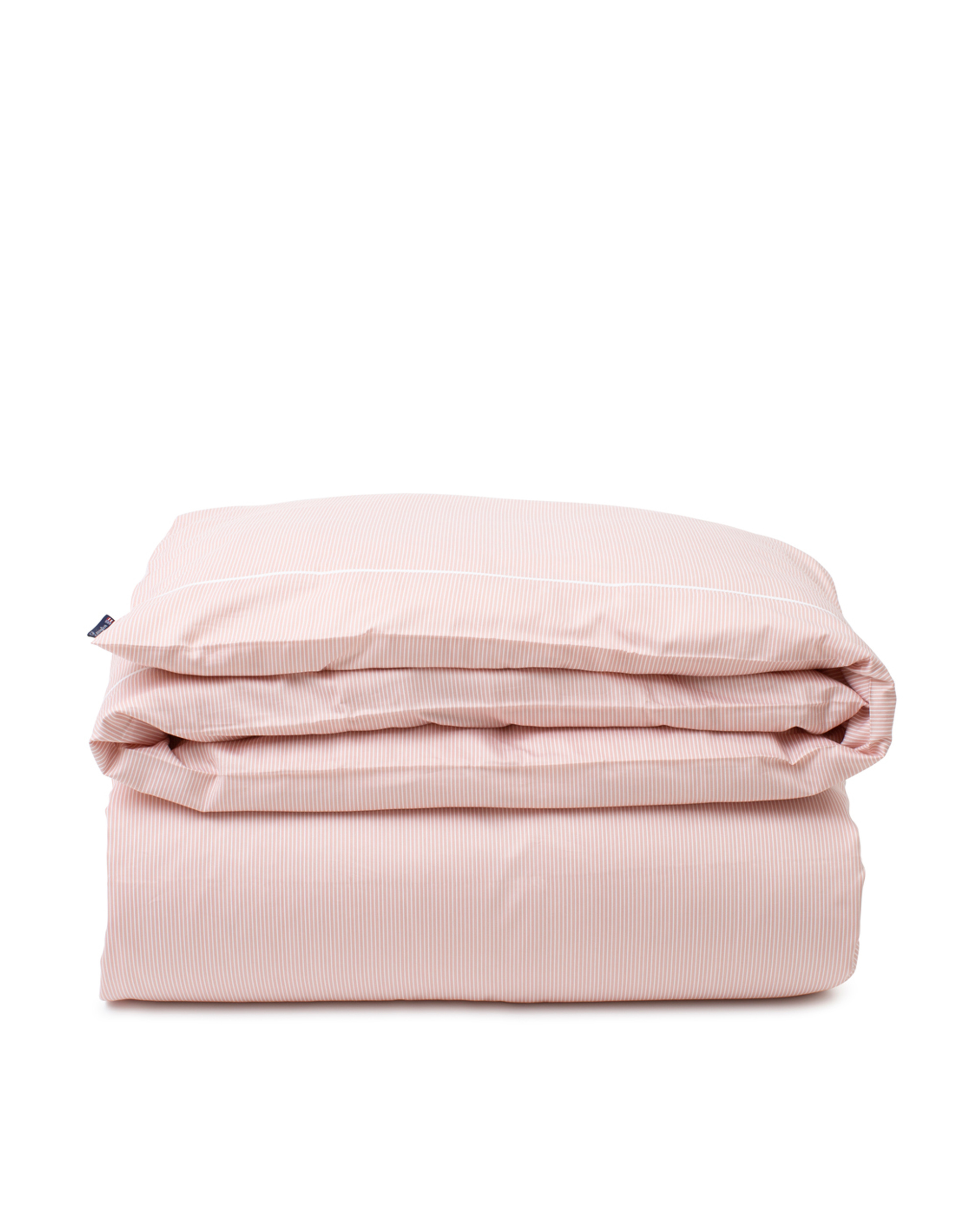 Pink/White Striped Lyocell/Cotton Duvet Cover