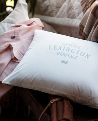 Lexington Printed Cotton Poplin Pillowcase, White/Light Gray