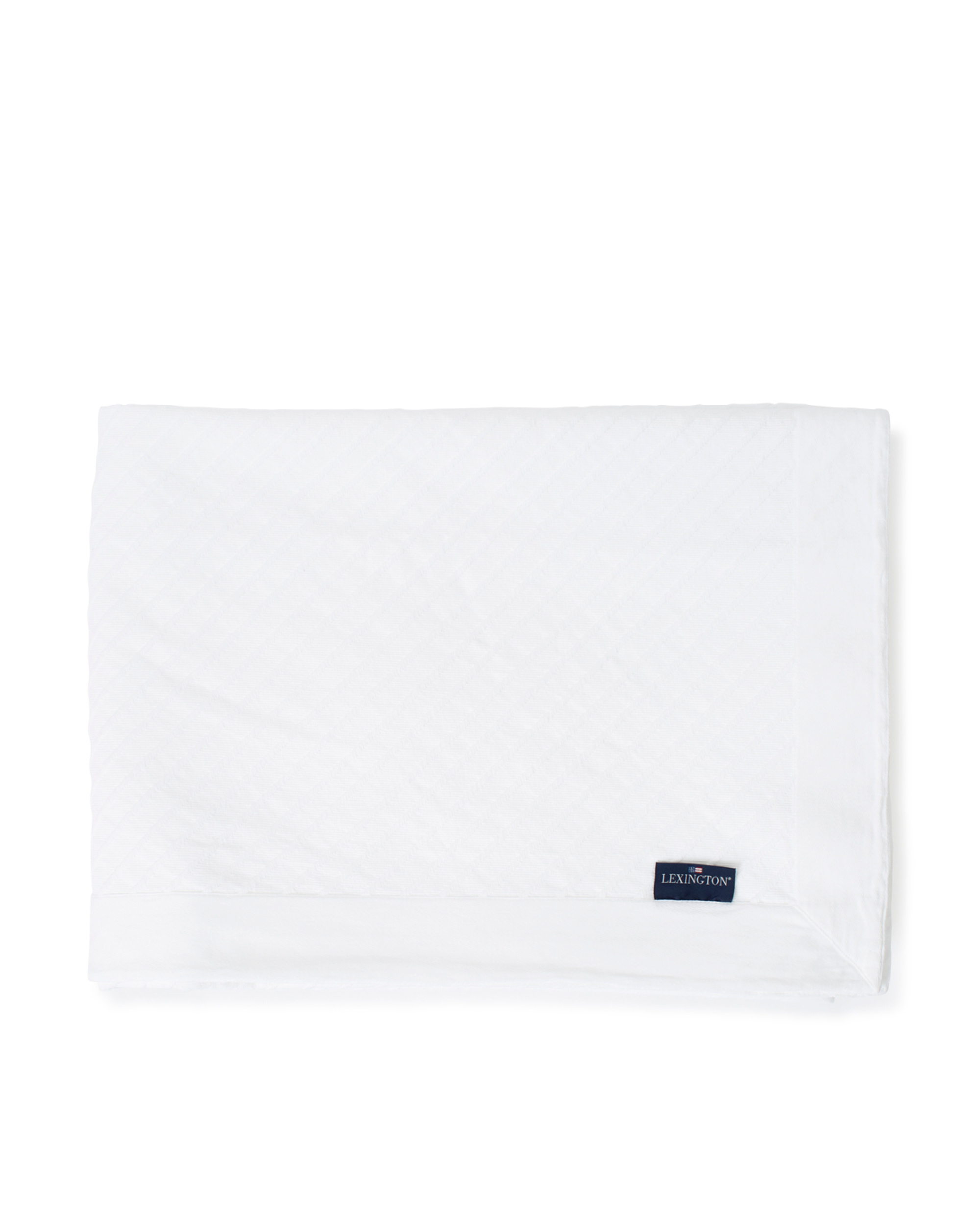 Diagonal Structured Cotton Bedspread, White