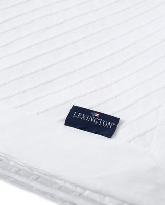 Diagonal Structured Cotton Bedspread, White