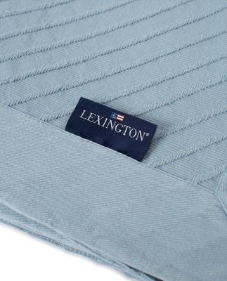 Diagonal Structured Cotton Bedspread, Light Blue