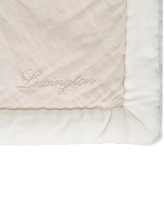 Patch Quilted Cotton Velvet/Linen Visc Bedspread