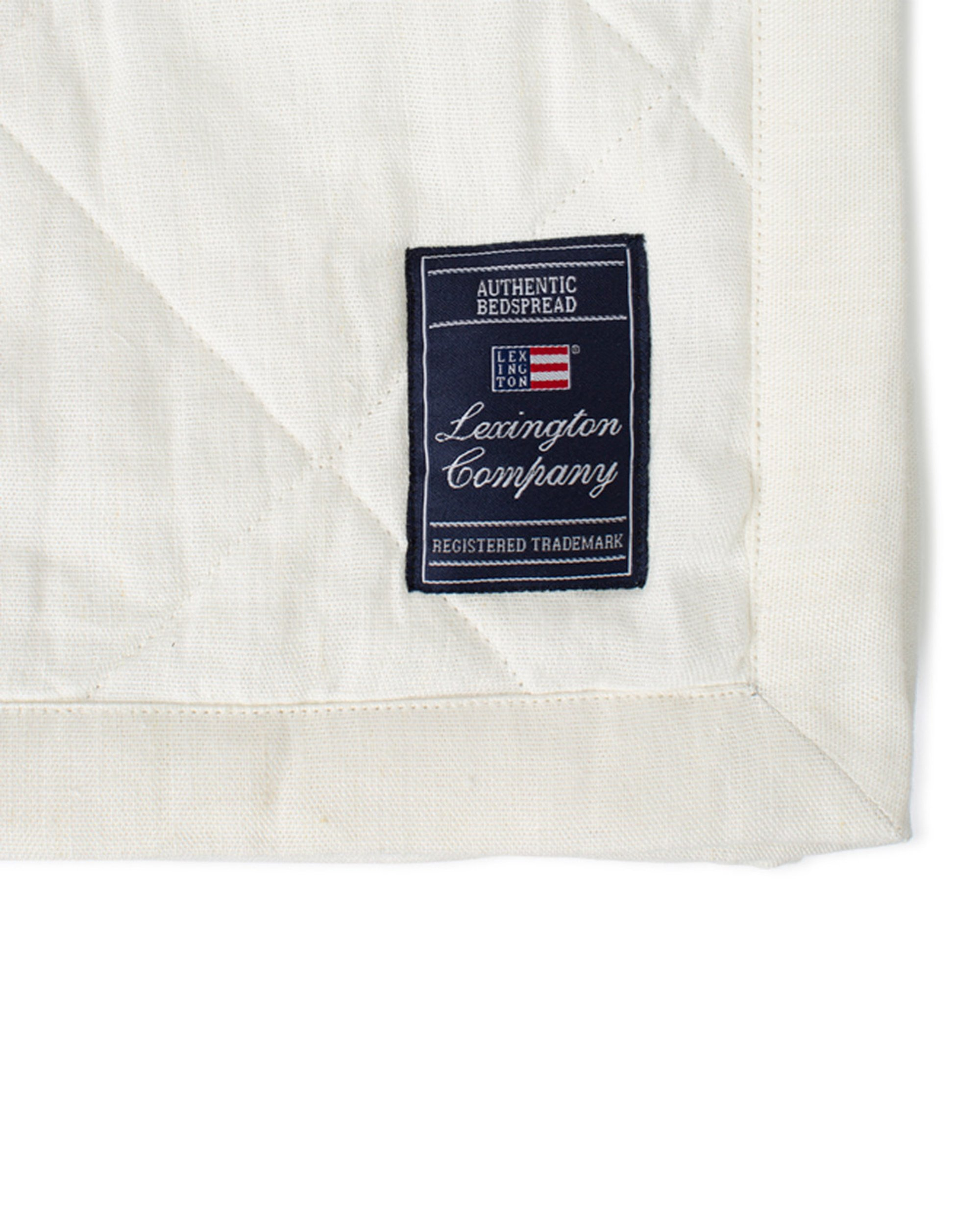 Quilted Linen/Viscose Bedspread, Off White