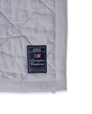 Quilted Linen/Viscose Bedspread, Light Gray