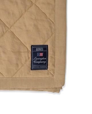 Quilted Linen/Viscose Bedspread, Beige