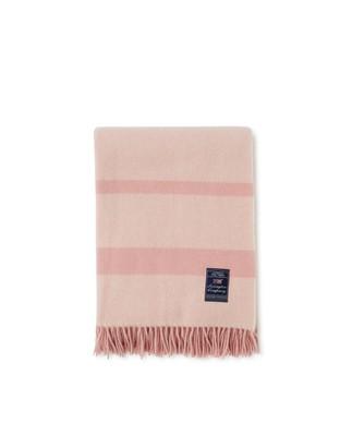 Herringbone Recycled Wool Throw, Pink