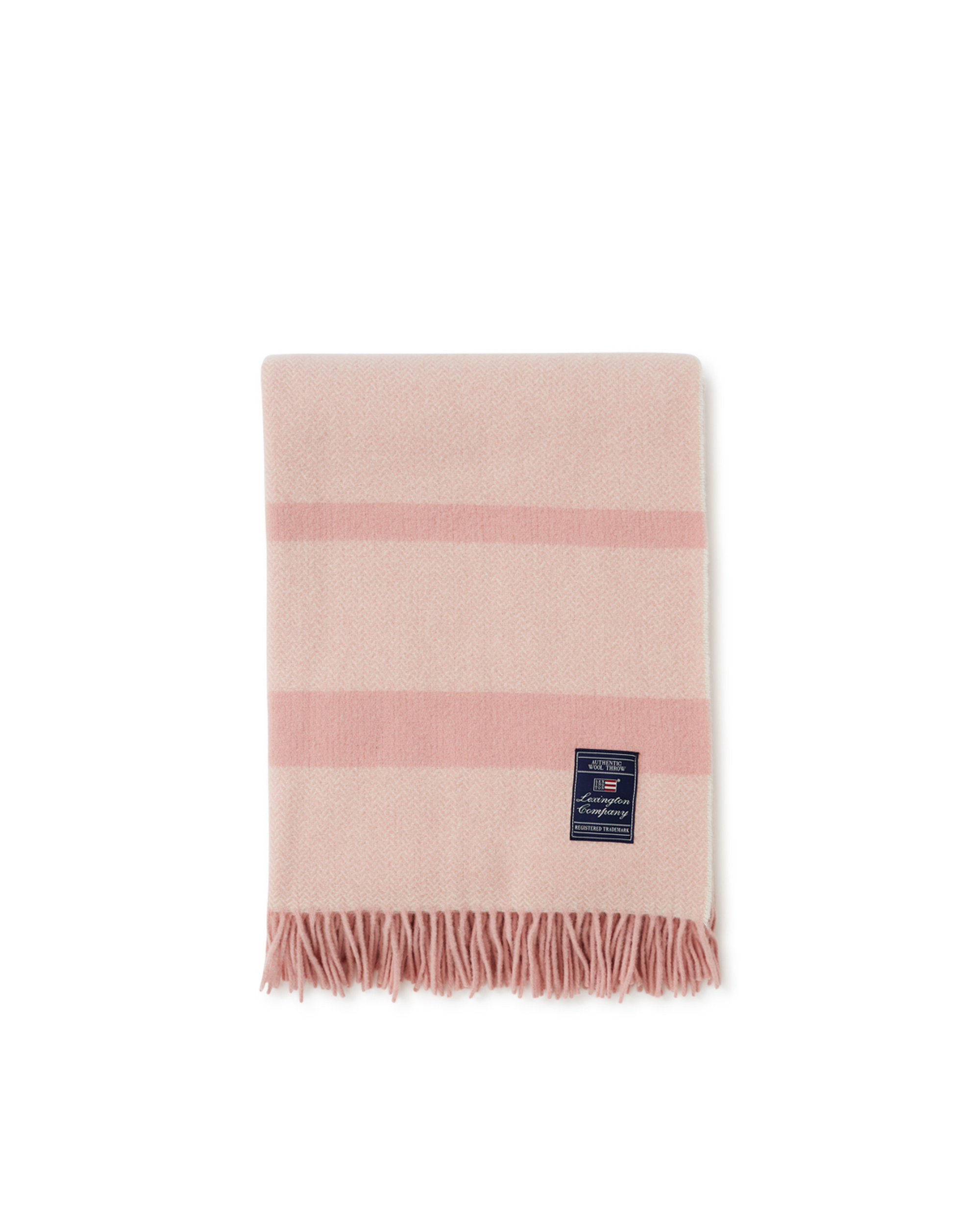 Herringbone Recycled Wool Throw, Pink