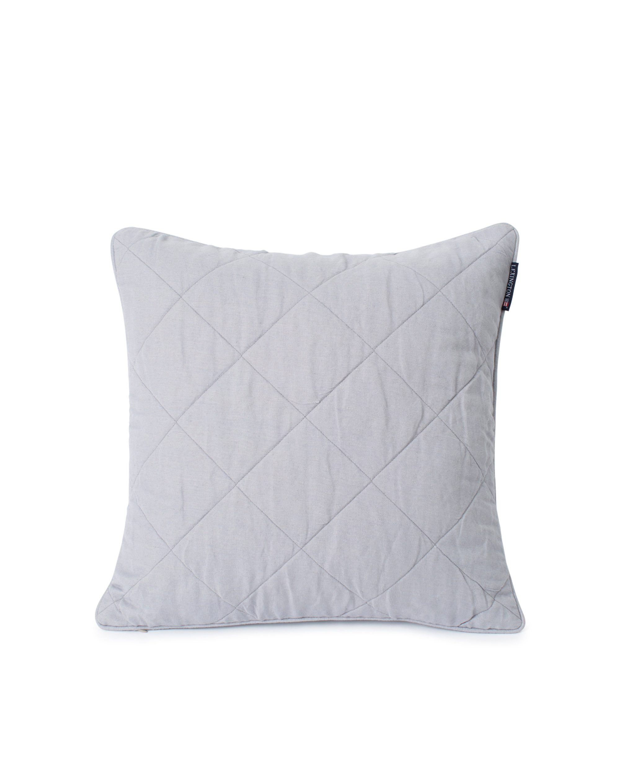 Quilted Linen/Viscose Pillow Cover, Gray