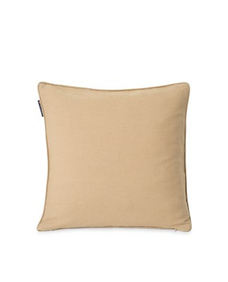 Quilted Linen/Viscose Pillow Cover, Beige
