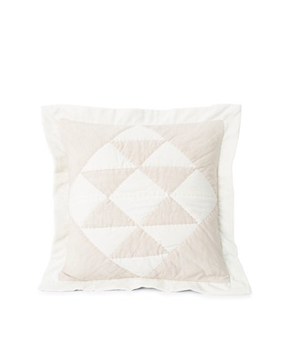 Patch Quilted Cotton Velvet/Linen Viscose Pillow Cover