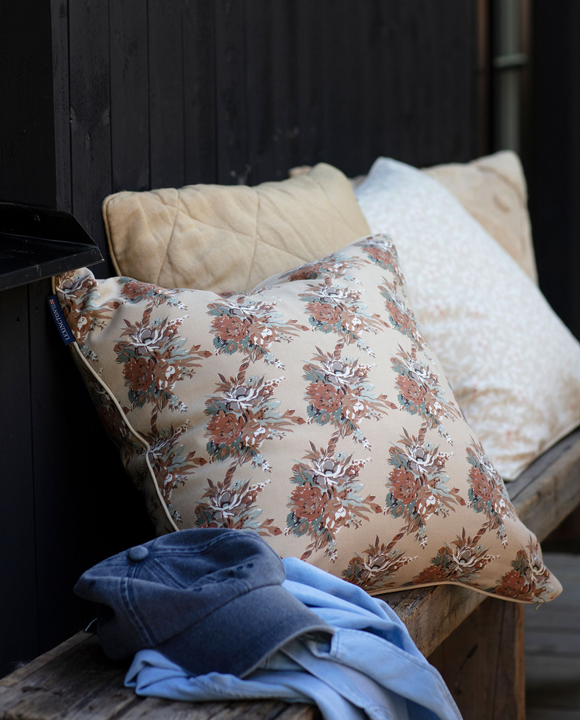 Printed Multi Flower Cotton Twill Pillow Cover