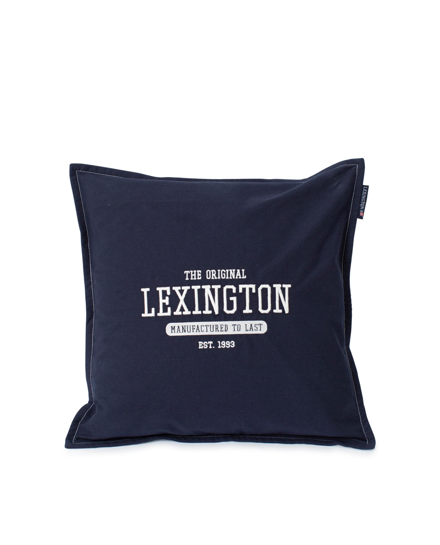 Logo Cotton Canvas Pillow Cover