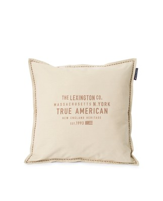 True American Cotton Canvas Pillow Cover