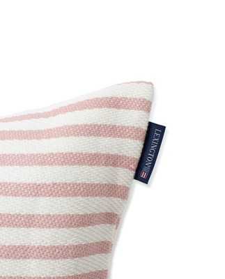Block Striped Recycled Cotton Pillow Cover, Pink