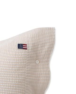 Beige/White Striped Cotton Seersucker Pillowcase
