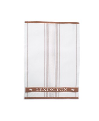 Striped Cotton Terry Logo Kitchen Towel