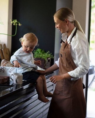 Brown Cotton Canvas Apron