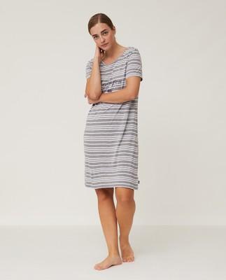 Women's Jersey Bamboo Nightgown, Gray