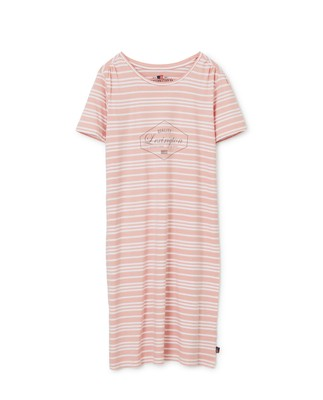 Women's Organic Cotton Nightgown, Pink