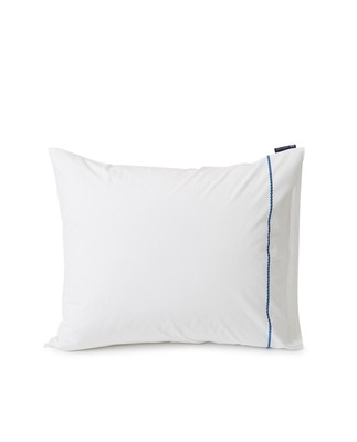 Rope Deco Embroidered Cotton Poplin Pillowcase