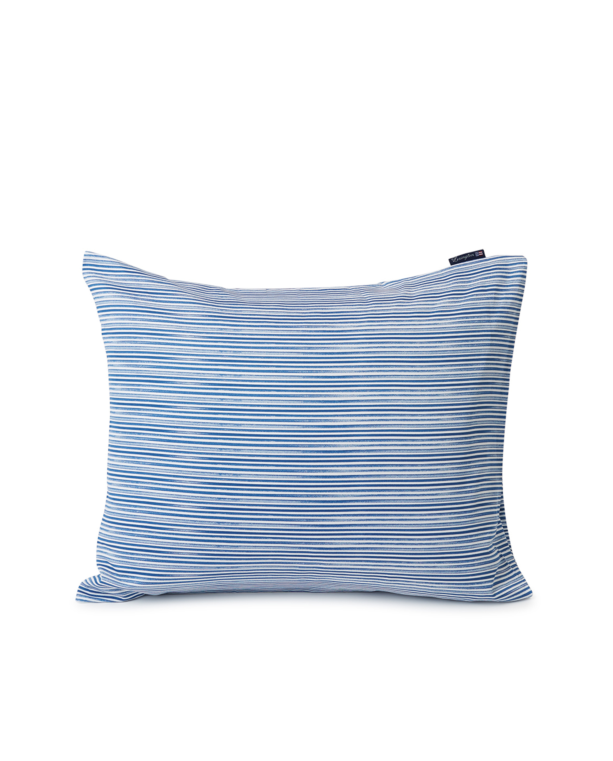 Blue Striped Organic Cotton Sateen Pillowcase