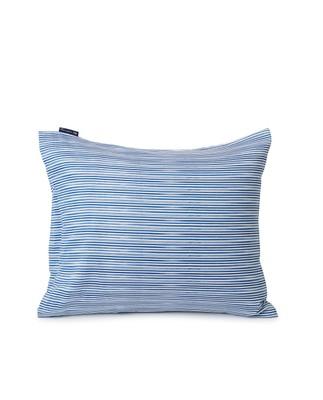Blue Striped Organic Cotton Sateen Pillowcase