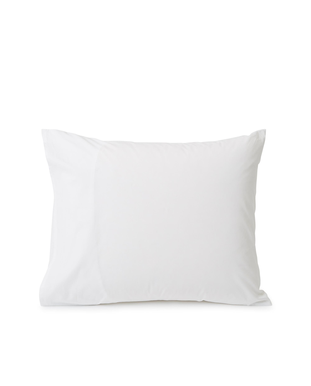 Printed Organic Cotton Poplin Pillowcase, White/Beige