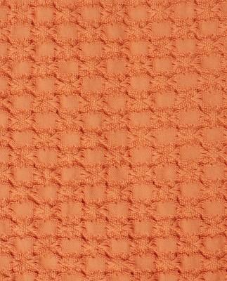 Waffle Structure Organic Cotton Bedspread, Peach Melon