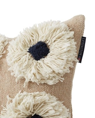 Rug Flower Recycled Cotton Canvas Pillow Cover