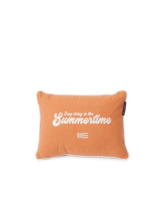 Summertime Small Cotton Canvas Pillow