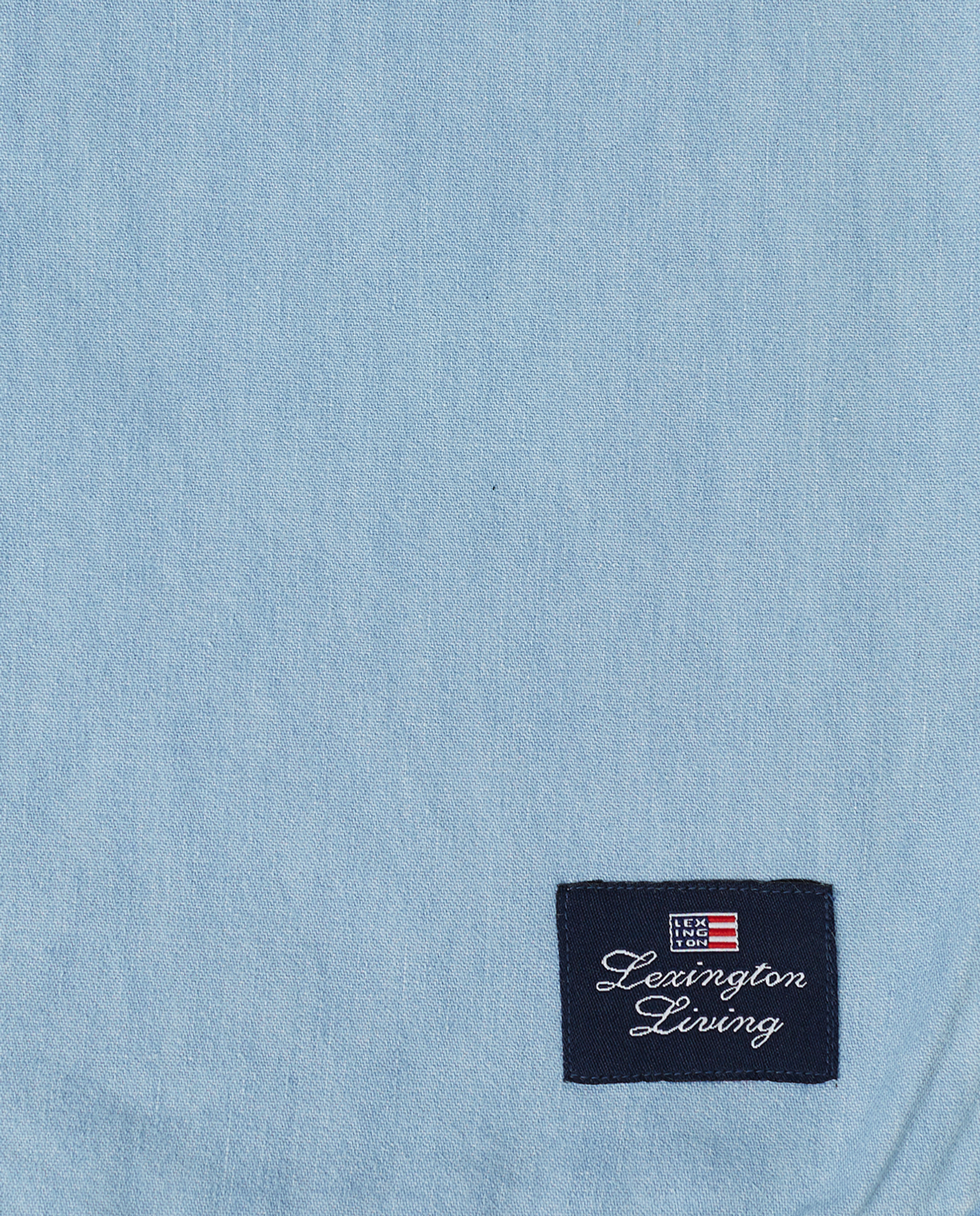 Light Blue Denim Washed Cotton Tablecloth