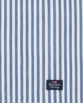 Striped Cotton Twill Napkin Blue/White