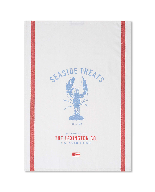 Lobster Cotton Twill Kitchen Towel