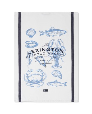 Seafood Cotton Twill Kitchen Towel