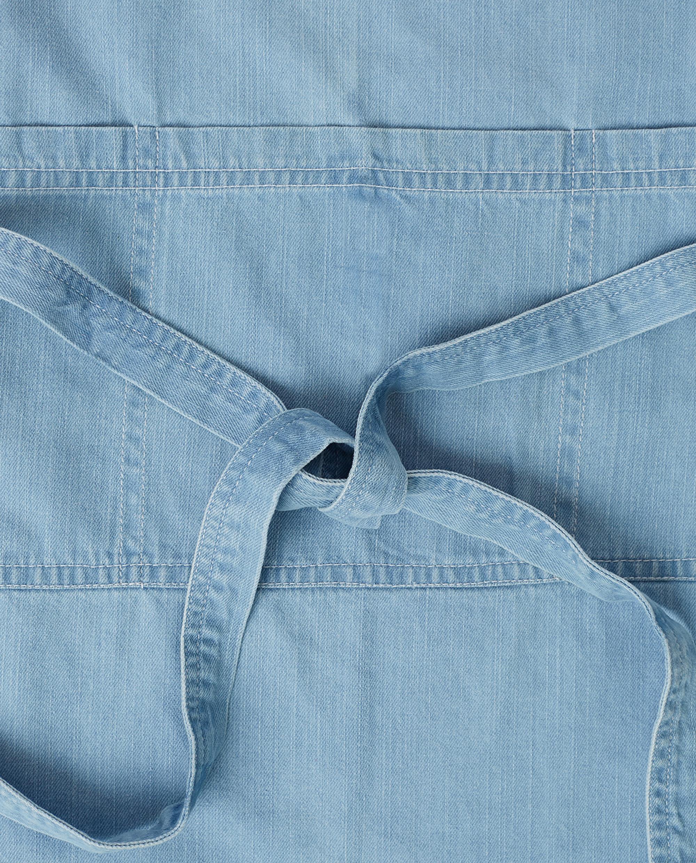 Light Blue Denim Washed Cotton Apron
