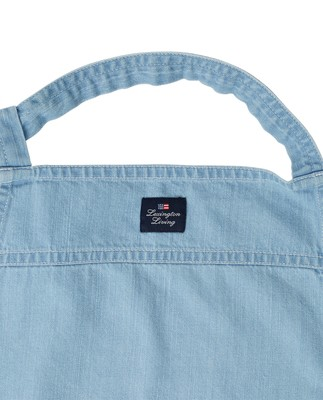 Light Blue Denim Washed Cotton Apron