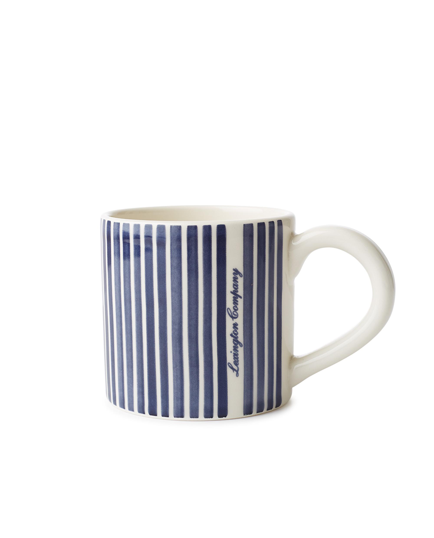 Blue Striped Earthenware Mug