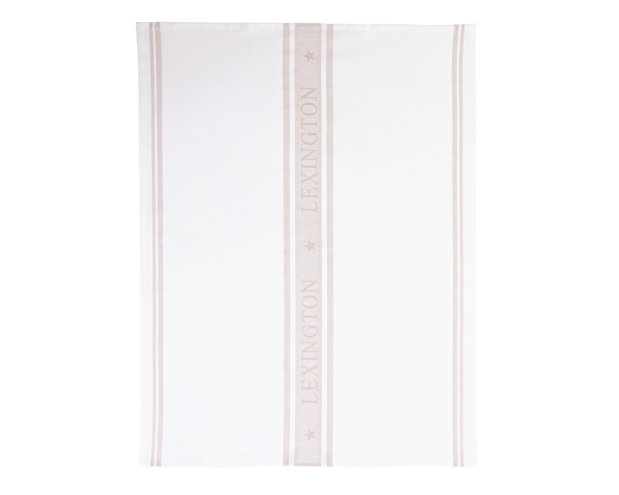 Star Kitchen Towel, White/Beige