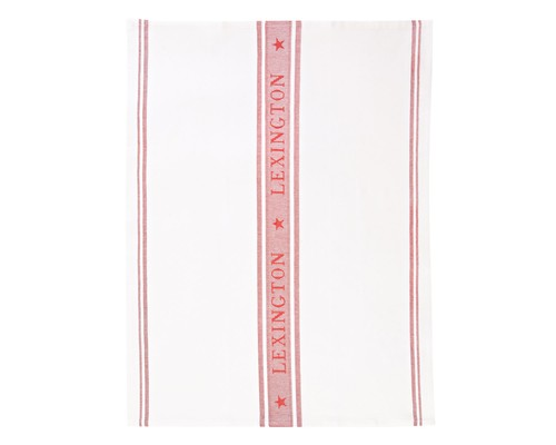 Star Kitchen Towel, White/Red