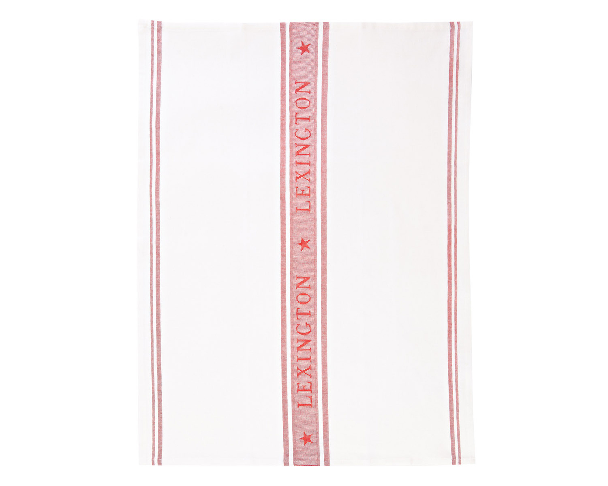 Icons Star Kitchen Towel, White/Red