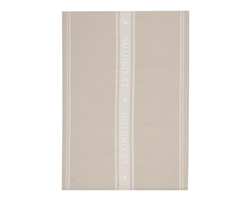 Star Kitchen Towel, Beige/White