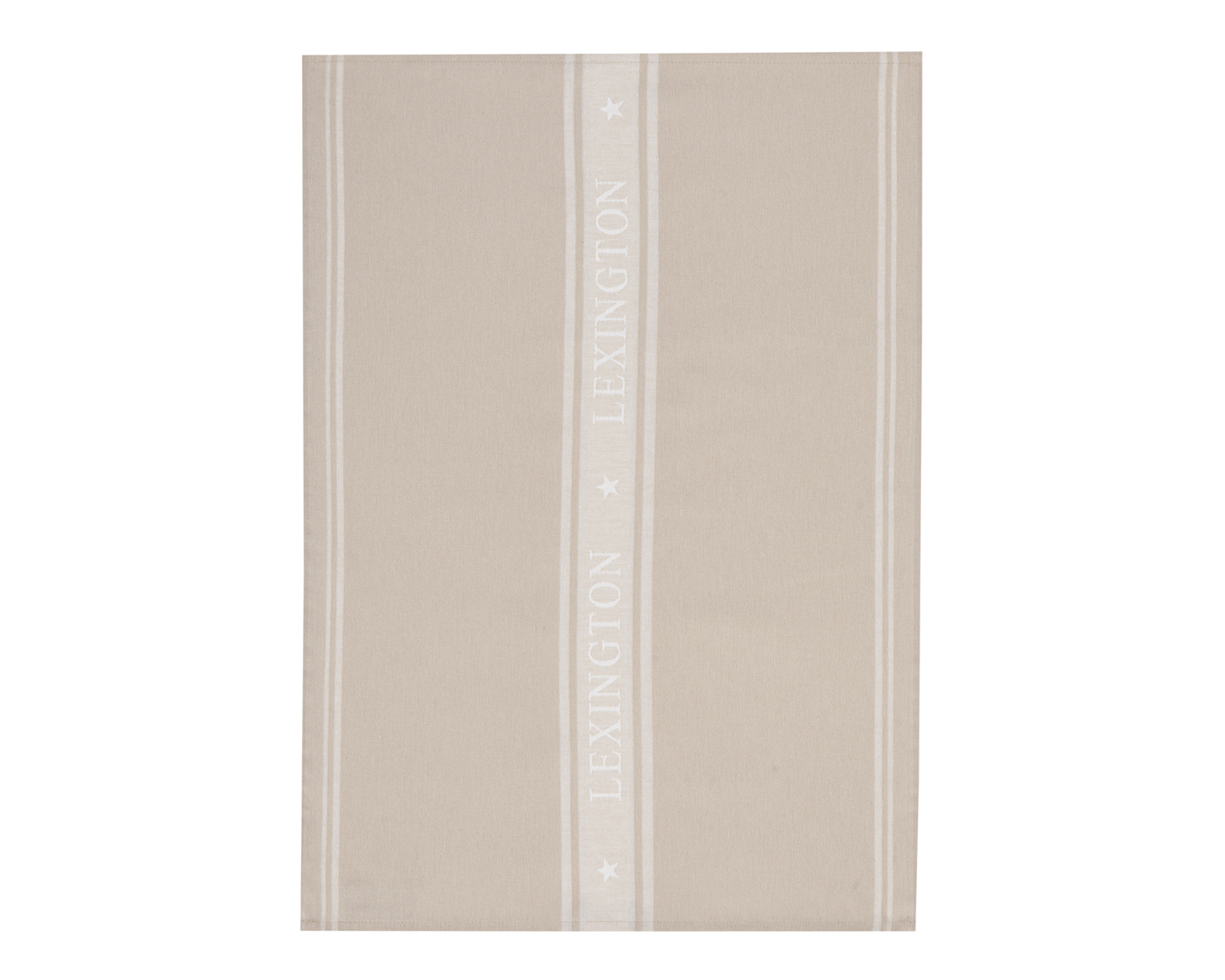 Icons Star Kitchen Towel, Beige/White