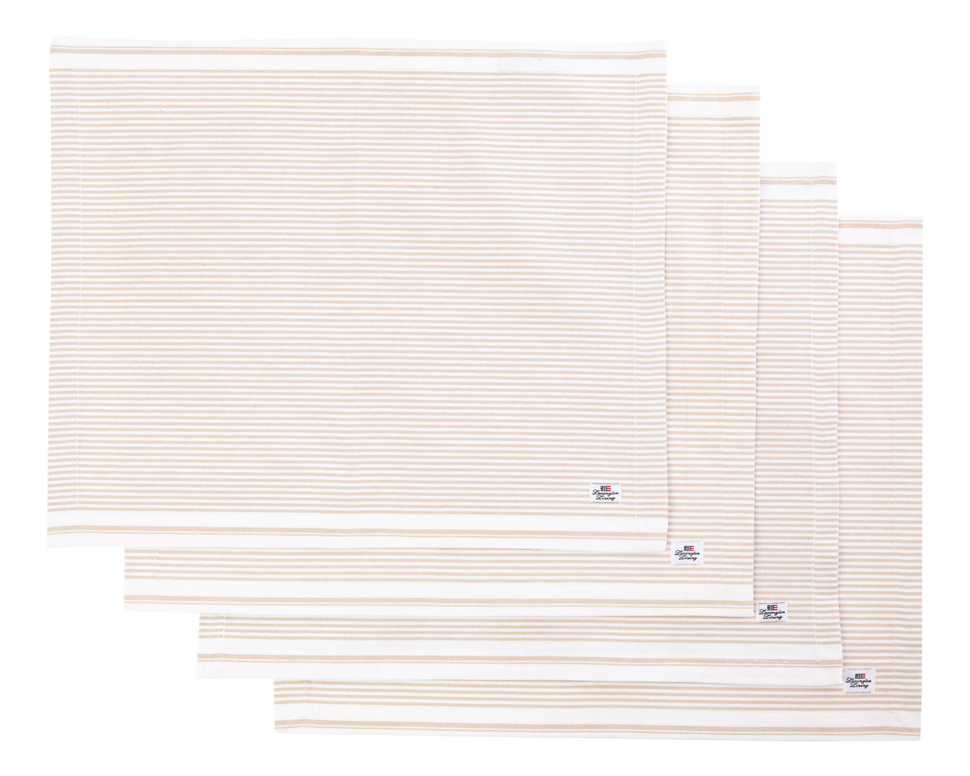 Oxford Beige/White Striped Placemat
