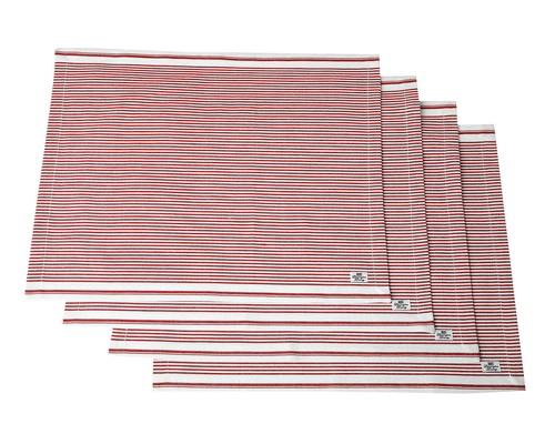 Icons Oxford Red/White Striped Placemat