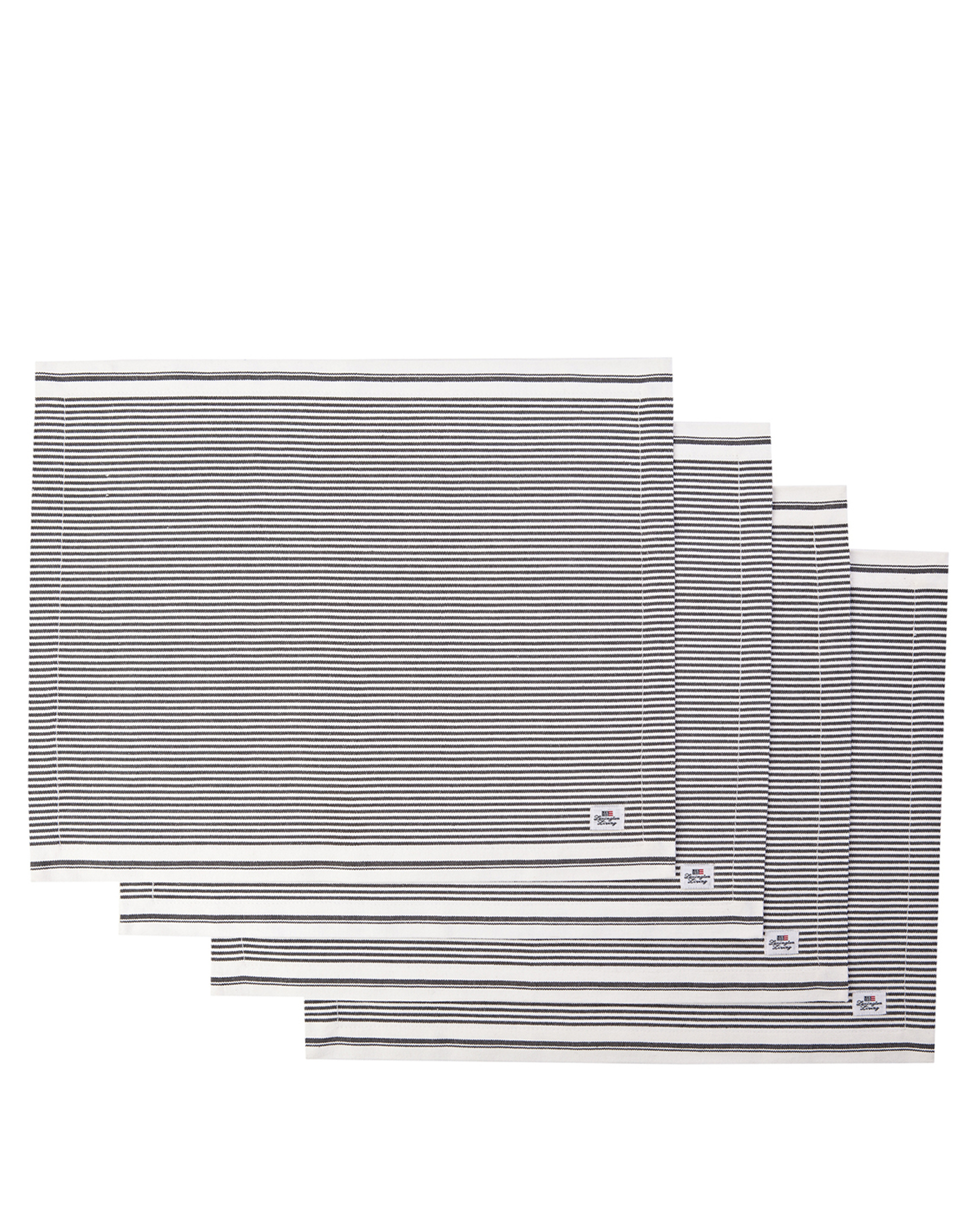 Icons Oxford Dark Gray/White Striped Placemat