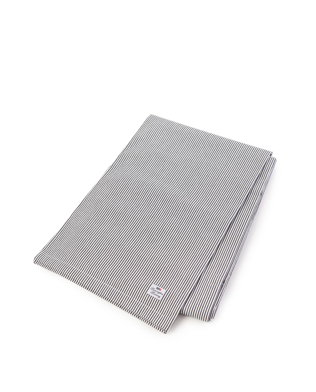 Icons Oxford Dark Gray/White Striped Tablecloth