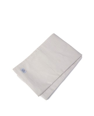 Icons Oxford Beige/White Striped Tablecloth