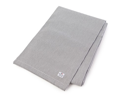 Oxford Dark Gray/White Striped Tablecloth