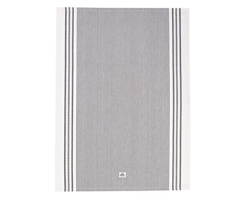 Icons Oxford Dark Gray/White Striped Kitchen Towel